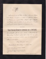 LIMPERTSBERG-LEZ-LUXEMBOURG Marie-Ferdinande De La FONTAINE 1864-1884 Famille VILLERS De BORN - Décès