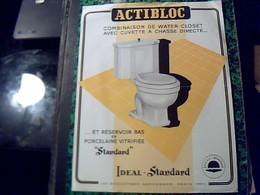 Publicité   Ancienne Tract WATER CLOSET  ACTIBLOC  Ideal Standart Bd  St Martin Paris Annee 50 - Publicités