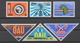 Ghana 1965 Mi# 237-42** ORGANIZATION FOR AFRICAN UNITY SUMMIT CONFERENCE - Ghana (1957-...)
