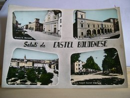 1961 - Ravenna - Saluti Da Castel Bolognese - Vedute - Piazza Bernardi Palazzo Mengoni Municipio - Saluti Da.../ Gruss Aus...