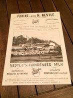 Farine Lactée Henri NESTLE Inventeur à VEVEY Pharmacien MAUREL à MILLAU Fabrique De Capsules Goudron THEVENOT à DIJON - Suisse
