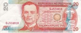 BILLETE DE FILIPINAS DE 20 PISO NUMEROS ROJOS  (BANKNOTE) (RARO) - Filipinas
