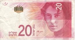 BILLETE DE ISRAEL DE 20 SHEQALIM DEL AÑO 2017 (BANKNOTE) - Israel