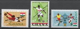Ghana 1965 Mi# 250-52** FOOTBALL, BLACK STARS RETAIN AFRICA CUP - Ghana (1957-...)