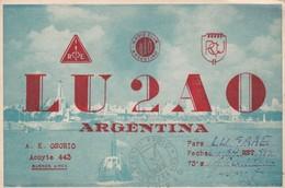LU2AO ARGENTINA  CENTRO RADIO VERETANOS, CIRCULEE 1954. QSL RADIOHAM- BLEUP - Radio-amateur