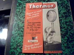 Publicité   Ancienne Tract Chauffe Eau  7510  Thermor A Orleans Annee40/50  Avec Plans Techniques - Publicités