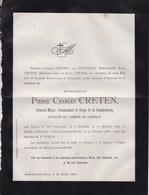 SAINT-JOSSE Commandant Corps De La Gendarmerie  Pierre Charles CRETEN Général-major 1824-1881 - Décès