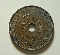 Rhodesia And Nyasaland 1/2 Penny 1958 - Rhodésie