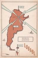 LU8ABL, PRESIDENCIA DE LA NACION, CIRCULEE 1955 A ARGENTINE. QSL RADIOHAM- BLEUP - Radio-amateur
