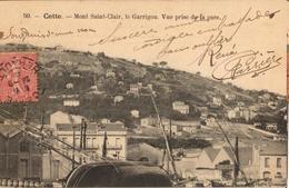 34 - CETTE - MONT SAINT CLAIR, LE GARRIGOU. VUE PRISE DE LA GARE - Sete (Cette)