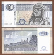 CZECHOSLOVAKIA 100 Korun 2017 UNC. 100 Years Since The Founding Of The Republic. Private Essay. Specimen. - Billets