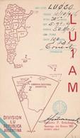 LU1AM, CIRCULEE 1954 A ARGENTINE. QSL RADIOHAM- BLEUP - Radio-amateur