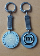 METALKA Ljubljana Tool Metal White Goods Bertoni Milano Key Ring Key Chain - Porte-clefs