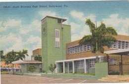 Florida Hollywood South Broward High School Curteich - United States