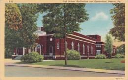 Pennsylvania Beaver Auditorium And Gymnasium High School Curteich - Other