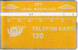 TURKEY(L&G) - Telecom Logo 120 Units, CN : 010A, 10/90, Used - Turquie