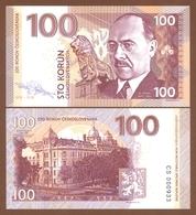 CZECHOSLOVAKIA 100 Korun 2018 UNC. 100 Years Of Czechoslovakia. Milan Hodža. Private Essay. Specimen. - Billets