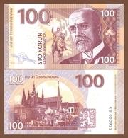 CZECHOSLOVAKIA 100 Korun 2018 UNC. 100 Years Of Czechoslovakia. Masaryk. Private Essay. Specimen. - Billets
