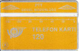 TURKEY(L&G) - Telecom Logo 120 Units, CN : 907A, 07/89, Used - Turquie
