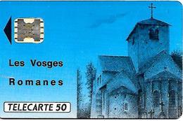 CARTE-n-PUCE-PRIVEE-PUBLIC- 50U- EN-31-SC5ab-VOSGES ROMANES-V° 5 Imp 25296-Utilisé-TBE- - Francia