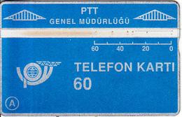 TURKEY(L&G) - Telecom Logo 60 Units, CN : 906F, Tirage 50000, 06/89, Used - Turquie