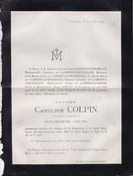ZANGERHEIDE EIGENBILSEN Caroline COLPIN Veuve Balthazar CRUTS 73 Ans 1882 Zangerheij Famille LAMBERTS-CORTEMBACH BREULS - Décès