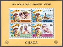 Ghana 1976 Mi# Bl.62** WORLD BOY SCOUT JAMBOREE, LILLEHAMMER - Ghana (1957-...)