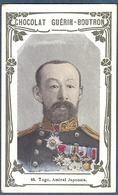 Chromo Chocolat Guerin-Boutron Livre D'or Célébrités Contemporaines - 65 Togo Amiral Japonais Japon - Guérin-Boutron