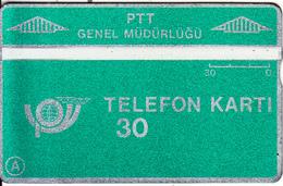 TURKEY(L&G) - Telecom Logo 30 Units, CN : 902C, 02/89, Used - Turquie
