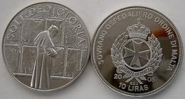 MALTA 10 L 2005 CU NI ORDINE SOVRANO OSPEDALIERO SOLI DEO GLORIA  PAPA GIOVANNI PAOLOII PESO 26,2 CONSERVAZIONE FONDO SP - Malte (Ordre De)