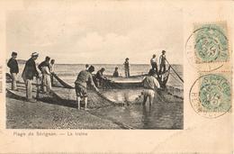 34 - SÉRIGNAN - LA PLAGE - LA TRAÎNE - Frankreich