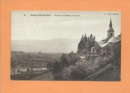 CPA - Bonne Sur Menoge -  L'église Et Vallée De L'Arve - France