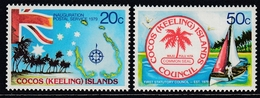 Cocos Islands 1979 - Inauguration Of The Independent Postal Service And The First Statutory Council - Mi 32-33 ** MNH - Cocos (Keeling) Islands