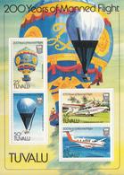 1983 Tuvalu Manned Flight Aviation Balloons Souvenir Sheet MNH - Tuvalu