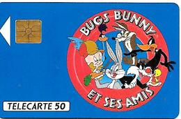 CARTE-n-PUCE-PRIVEE-PUBLIC- 50U-GEM-12/91-EN 264-BUGS BUNNY-UTILISE--TBE - France