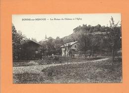 CPA - Bonne Sur Menoge -  Les Ruines Du Château Et L'église - France