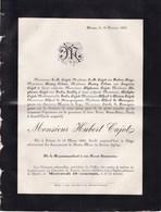SOIRON HERVE Hubert CAJOT 1825-1885 Famille ORBAN LE BOURGUIGNON GAILLY Faire-part Mortuaire - Décès