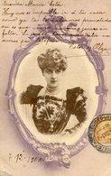 RETRATO MUJER, MODA ANTIGUA / PORTRAIT WOMAN, OLD FASHION / CIRCA 1900 POSTAL POST CARD -LILHU - Fotografie