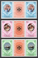 Ghana 1981 Mi# 892-94** ROYAL WEDDING - Ghana (1957-...)