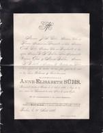 BAELEN Anne-Elisabeth SUHS 87 Ans 1886 Faire-part Mortuaire DAHLEN - Décès
