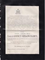 SPONTIN Victor De GOURCY-SERAINCHAMPS 54 Ans 1885 Famille Van HECKE Van CALOEN VERMEULEN De STEEN De JEHAY - Décès