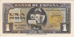 BILLETE DE ESPAÑA DE 1 PTA DEL 4/09/1940 SERIE C CARAVELA SIN CIRCULAR-UNCIRCULATED (BANKNOTE) - [ 3] 1936-1975 : Régimen De Franco