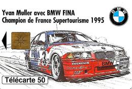 CARTE-n-PUCE-PRIVEE-PUBLIC- 50U-EN1341-GEMB-11/95-BMW/MULLER-UTILISE-TBE - France