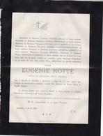 NEVELE AERSEELE Eugénie NOTTE Veuve Louis DEBEIL 74 Ans 1886 Familles COLLE MOERMAN GUILLEMYN - Décès