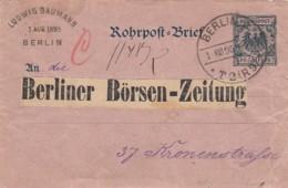 Deutsches Reich Rohrpostbrief 1895 - Lettres & Documents