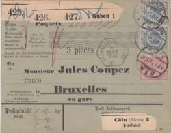 Deutsches Reich Paketkarte 1891 - Lettres & Documents