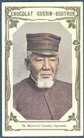 Chromo Chocolat Guerin-Boutron Livre D'or Célébrités Contemporaines - 76 Maréchal Oyama Japonais Japon - Guérin-Boutron