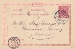 Deutsches Reich Postkarte 1895 Privat - Covers & Documents