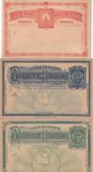 Honduras 3 Postcards 1895 (2 With Reply) - Honduras