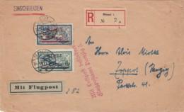 Deutsches Reich Memel R Brief Flugpost 1922 - Klaipeda